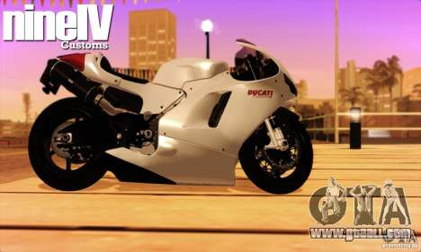 Ducati Desmosedici RR 2012 for GTA San Andreas back left view