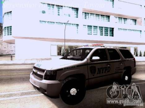 Chevrolet Tahoe 2007 NYPD for GTA San Andreas left view