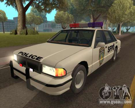 Updated SFPD for GTA San Andreas back left view