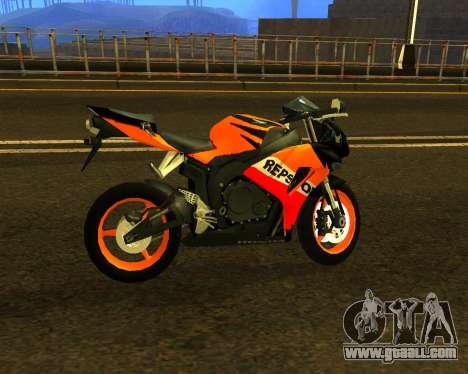 HONDA CBR 1000RR Repsol for GTA San Andreas