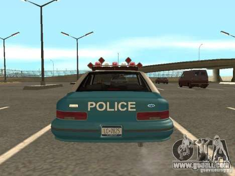 HD Police from GTA 3 for GTA San Andreas inner view