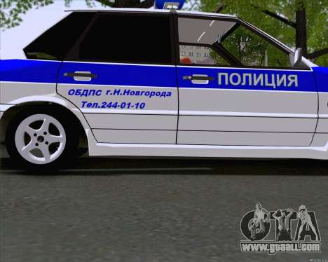 VAZ 2115 Police for GTA San Andreas left view
