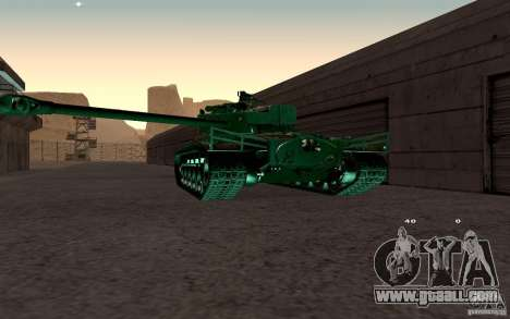T26 E4 Super Pershing v1.1 for GTA San Andreas right view