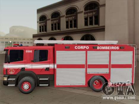Scania 94D-260 Corpo Bombeiros SP for GTA San Andreas bottom view