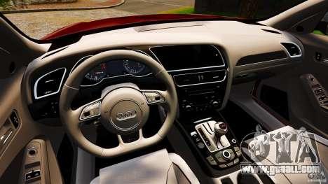 Audi RS4 Avant 2013 for GTA 4 back view