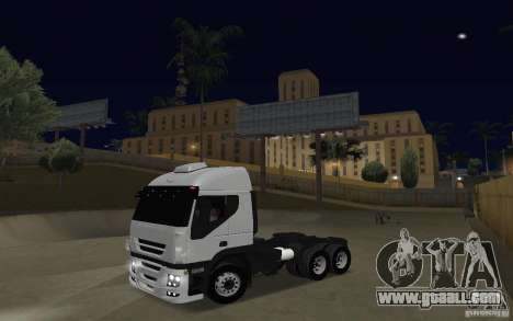 Iveco Stralis Double Trailers for GTA San Andreas left view