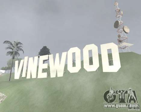Vinewood-restricted area for GTA San Andreas