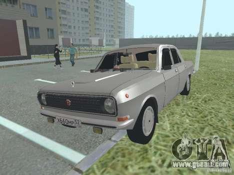 GAZ 24-10 Volga for GTA San Andreas inner view
