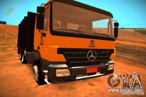 Mercedes Benz Actros Basura IM Santiago for GTA San Andreas left view