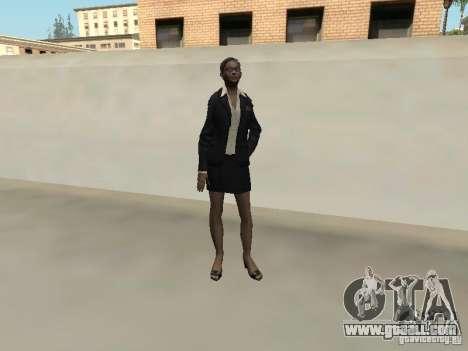 F.B.I female skin for GTA San Andreas forth screenshot