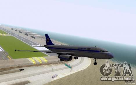 Airbus A-319 Azerbaijan Airlines for GTA San Andreas upper view