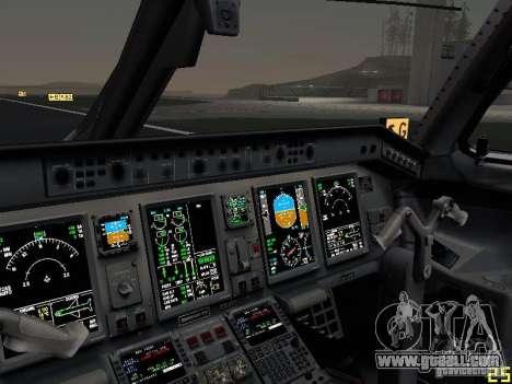 Embraer ERJ 190 USAirways for GTA San Andreas upper view