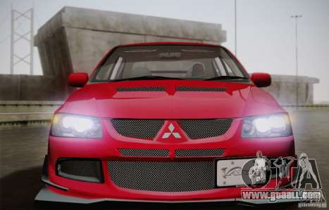 Mitsubishi Lancer Evolution VIII MR Edition for GTA San Andreas right view