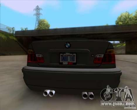 BMW 3-er E46 Dope for GTA San Andreas back view