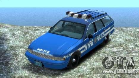 Chevrolet Caprice Police Station Wagon 1992 for GTA 4