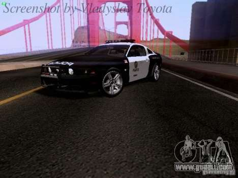 Ford Mustang GT 2011 Police Enforcement for GTA San Andreas back left view