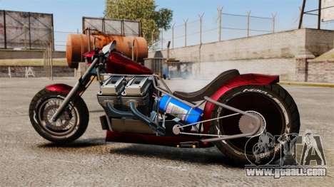 Dragbike Street Racer for GTA 4 left view