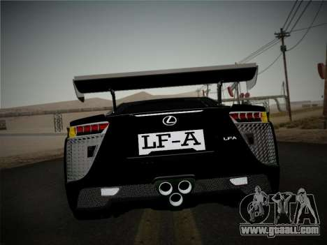 Lexus LFA Nürburgring Edition for GTA San Andreas right view
