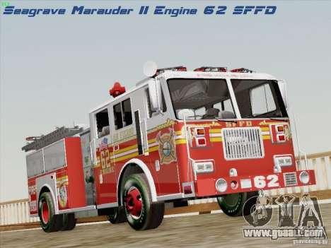Seagrave Marauder II Engine 62 SFFD for GTA San Andreas