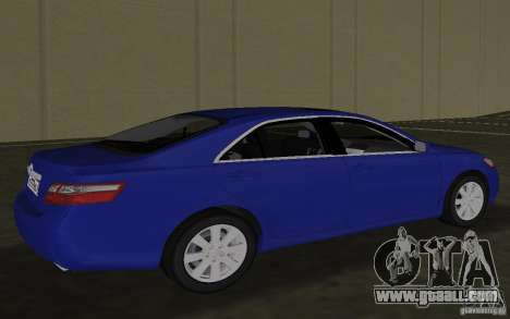 Toyota Camry 2007 for GTA Vice City back left view