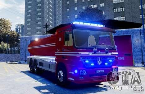 Mercedes-Benz Vanntankbil / Water Tanker for GTA 4 right view