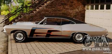 Chevrolet Impala 427 SS 1967 for GTA 4 left view