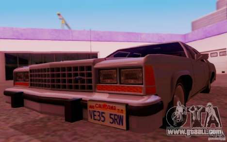 Ford Crown  Victoria LTD 1985 for GTA San Andreas inner view