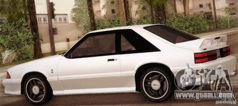 Ford Mustang SVT Cobra 1993 for GTA San Andreas bottom view