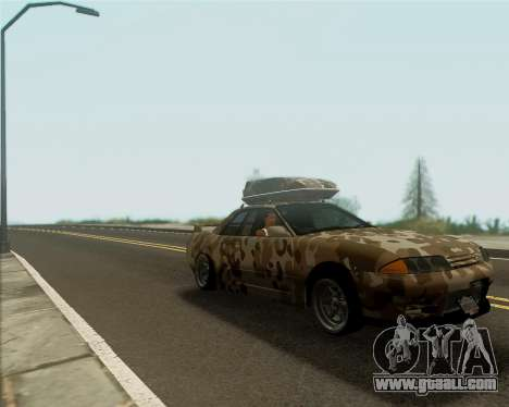 Nissan Skyline R33 Army for GTA San Andreas back left view