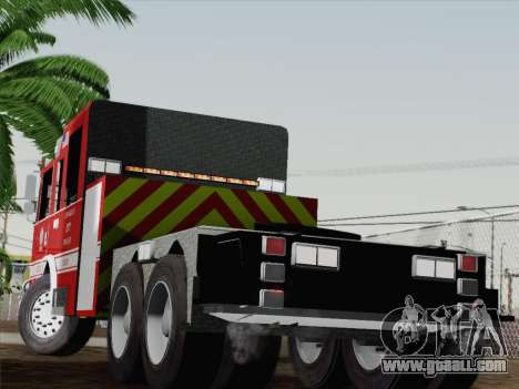 Pierce Arrow XT LAFD Tiller Ladder Truck 10 for GTA San Andreas back left view
