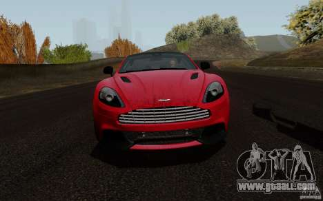 Aston Martin Vanquish 2012 for GTA San Andreas left view