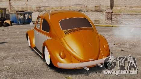 Volkswagen Fusca Edit for GTA 4 back left view