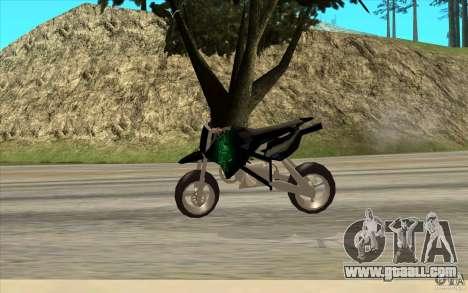 Black Rockstar Moto Cross for GTA San Andreas back left view