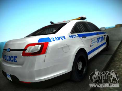Ford Taurus NYPD 2011 for GTA San Andreas left view