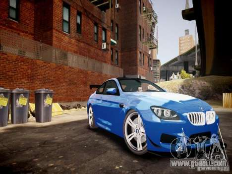 BMW M6 2013 for GTA 4 inner view