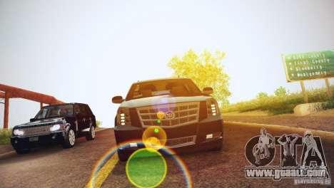 Cadillac Escalade ESV 2012 for GTA San Andreas inner view