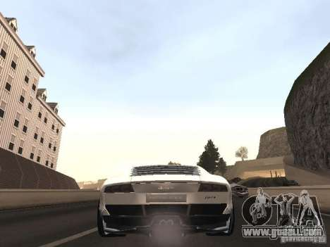 Lamborghini Miura LP670 for GTA San Andreas back left view