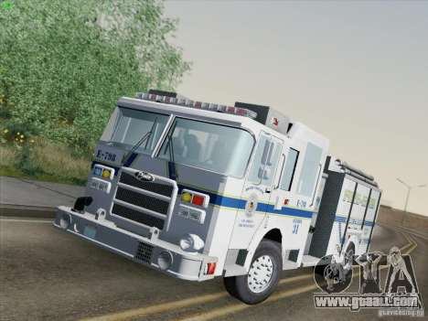 Pierce Pumpers. B.C.F.D. FIRE-EMS for GTA San Andreas back left view