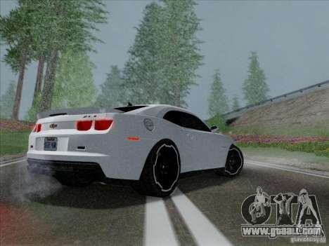 Chevrolet Camaro ZL1 2012 for GTA San Andreas back left view