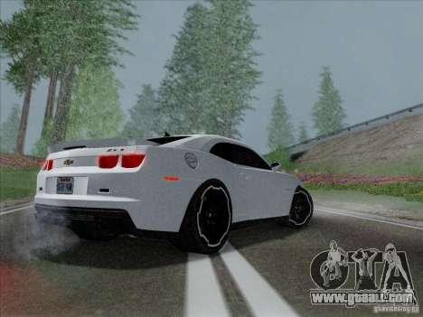 Chevrolet Camaro ZL1 2012 for GTA San Andreas back left view