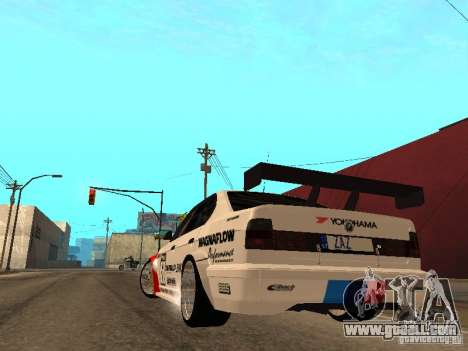 BMW E34 M5 - DTM for GTA San Andreas back left view