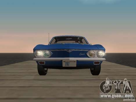 Chevrolet Corvair Monza 1969 for GTA San Andreas back view