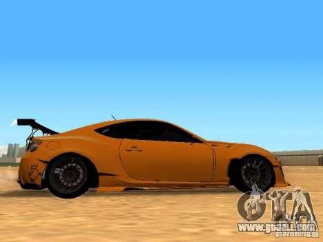 Toyota FT86 Rocket Bunny V2 for GTA San Andreas back view