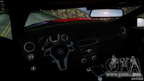Mercedes Benz C63 AMG SAIBON Paint Job for GTA 4 side view