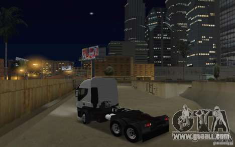 Iveco Stralis Double Trailers for GTA San Andreas back left view