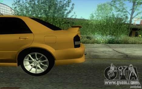 Mazda Speed Familia 2001 V1.0 for GTA San Andreas back view