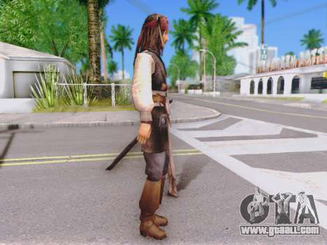 Jack Sparrow for GTA San Andreas second screenshot