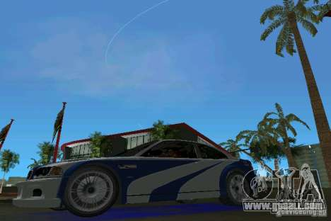 BMW M3 GTR NFSMW for GTA Vice City left view