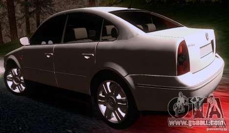 Volkswagen Passat B5+ for GTA San Andreas back left view