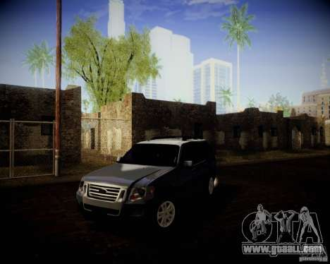 Ford Explorer for GTA San Andreas back view